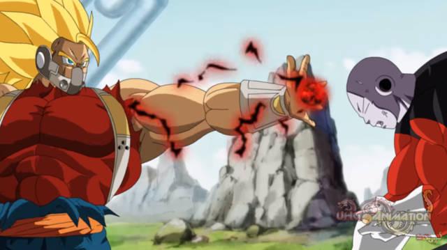 龙珠英雄,邪恶赛亚人与吉连的战斗,他的实力是超级破坏神级别!