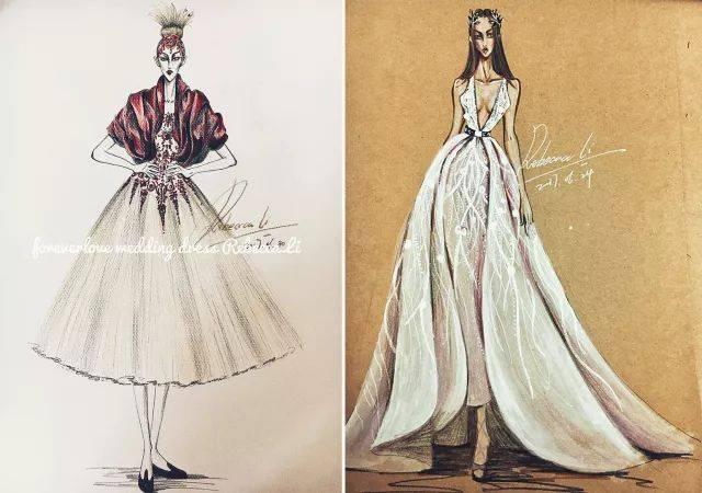 这些婚纱手绘图,让每一个女生都为之向往