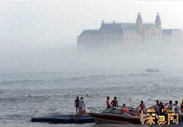 海市蜃楼看到古代女子:1988年蓬莱海市蜃楼事件图