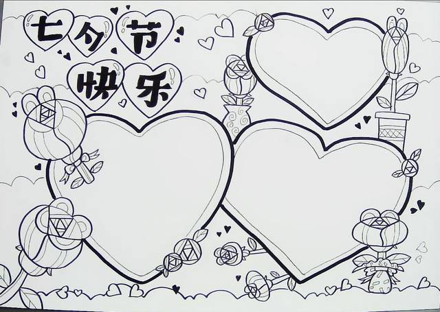 1,用铅笔绘画线稿,线稿是绘画手抄报的基础,在绘画手抄报时要进行
