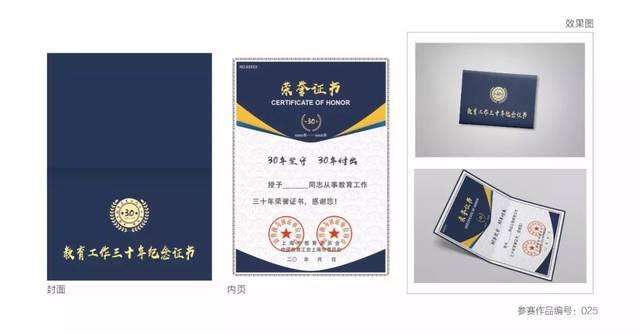 25 此证书打破传统横版设计,采用竖版折叠模式,以标准色深蓝色作为主图片