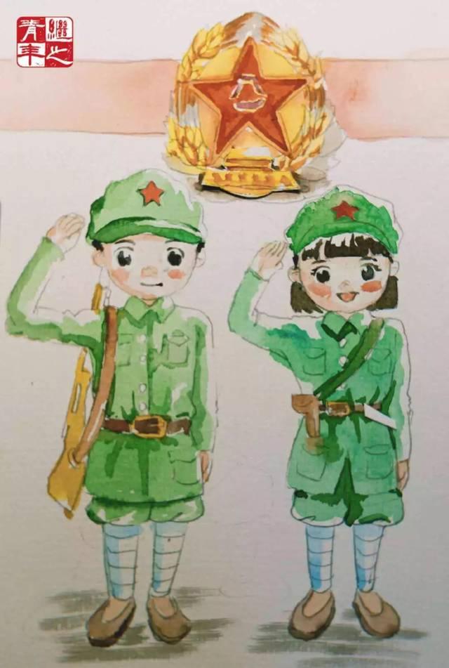 『继之|手绘』建军节,向最可爱的人致敬!