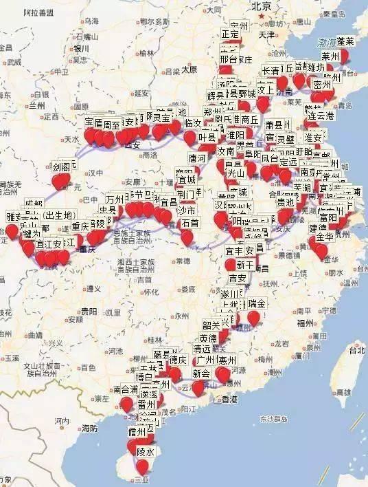 """关于""""旅行""""你就别嘚瑟了,看看李白,苏轼的地图打卡纪念!"""