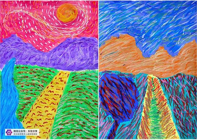 少儿美术参考课例 水粉与油画棒,丰富绚丽的色彩_手机图片