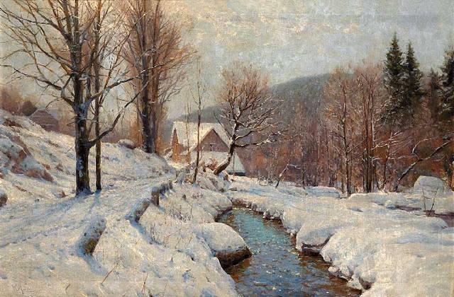 古雅恬静的风景油画 德国现代艺术家walter moras绘画