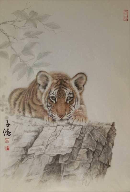 画家牛子鸿先生的工笔画作品分享图片