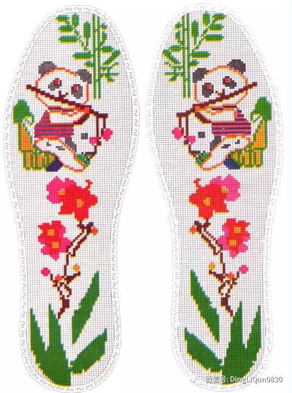 精美的十字绣鞋垫图纸(二)