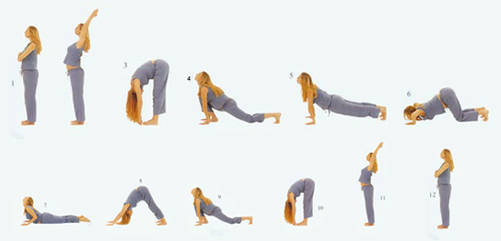 拜日式是最经典的瑜伽体式,它能帮你做好开始体式练习的热身.图片