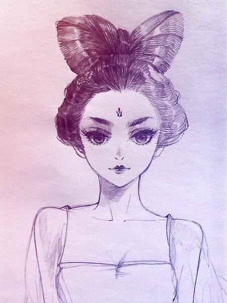 小央美:画头发教程,漫画素描中头发怎么画顺?素描头发