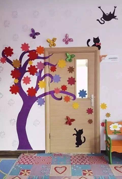 新学期幼儿园秋季主题墙环创!太美了!图片