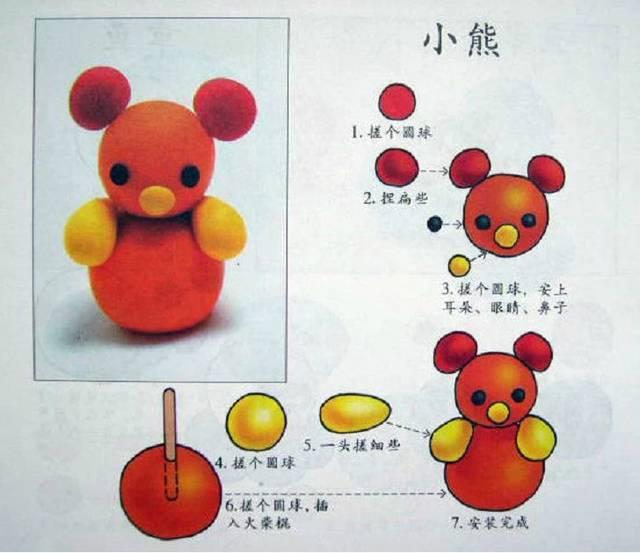 【巧妈手工】幼儿园橡皮泥手工制作,含步骤!