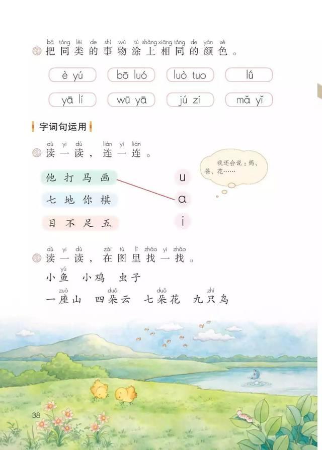 部编版一年级语文(上册)朗读音频 识字卡片 高清电子课本