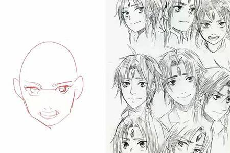 手绘漫画人物组合