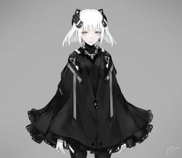 二次元暗黑系动漫图片:少女前线美图