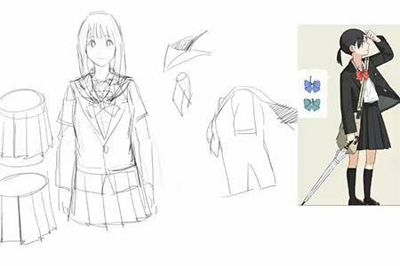 校服设计图片手绘图片简单
