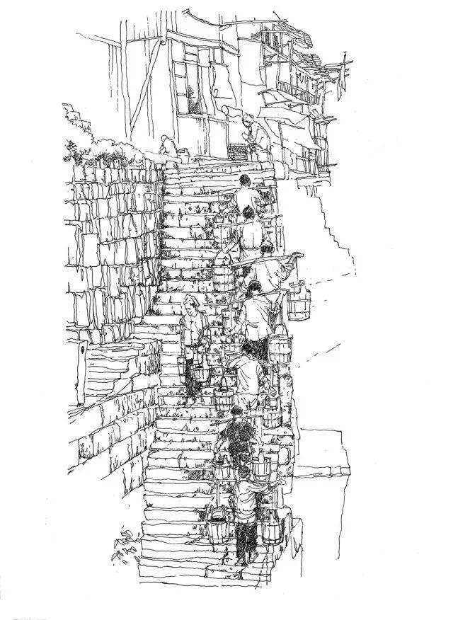 重庆建筑简笔画