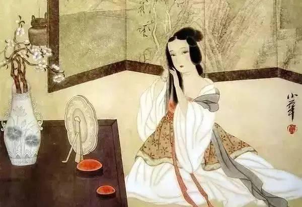 正在梳妆的古代女子图片来源:上海预警发布