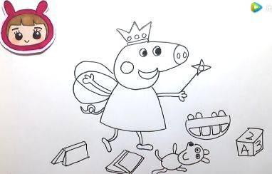 今天可乐姐姐为大家带来一款非常有趣的绘画作品——小猪佩奇变小仙女图片