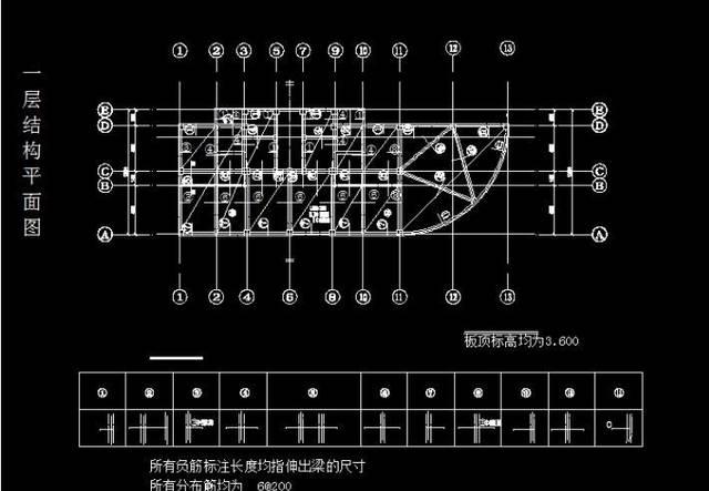 cad钢筋字体_cad钢筋基础图纸 钢筋ggl10.0基础培训cad