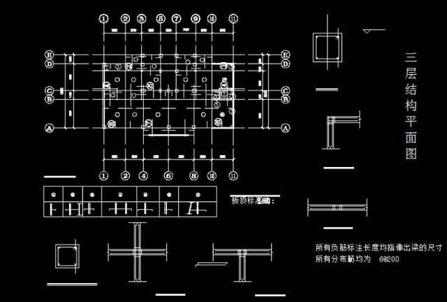 cad钢筋基础图纸 钢筋ggl10.0基础培训cad
