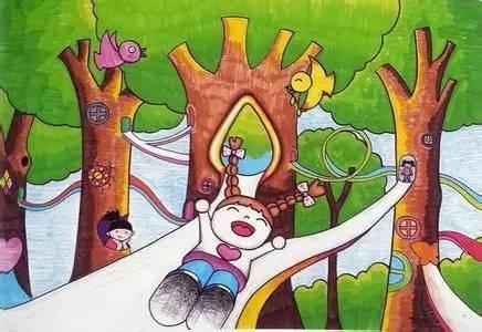 值得收藏的儿童画绘画技法!图片