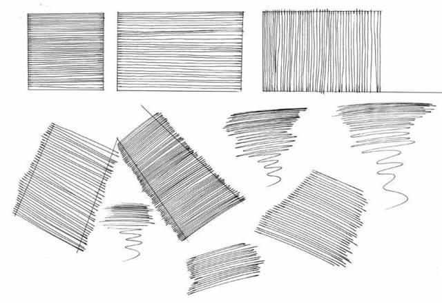 手绘技巧:手绘线条学习基础教程
