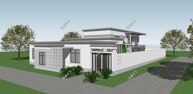 喷泉现代主义别墅制作,商住假山,精美实用设计别墅两用经典怎么图片