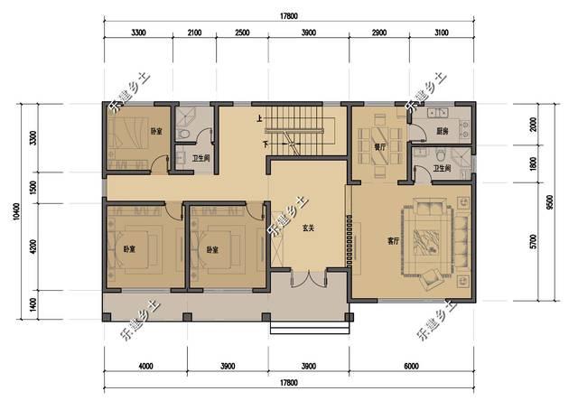 自建房18x10平面设计图