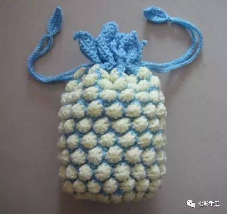 菠萝纸巾筒钩针编织教程,漂亮加实用,卷纸终于有了可安置的家