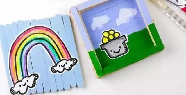 【小天使亲子团】亲子手工丨diy雪糕木棍手工制作漂亮
