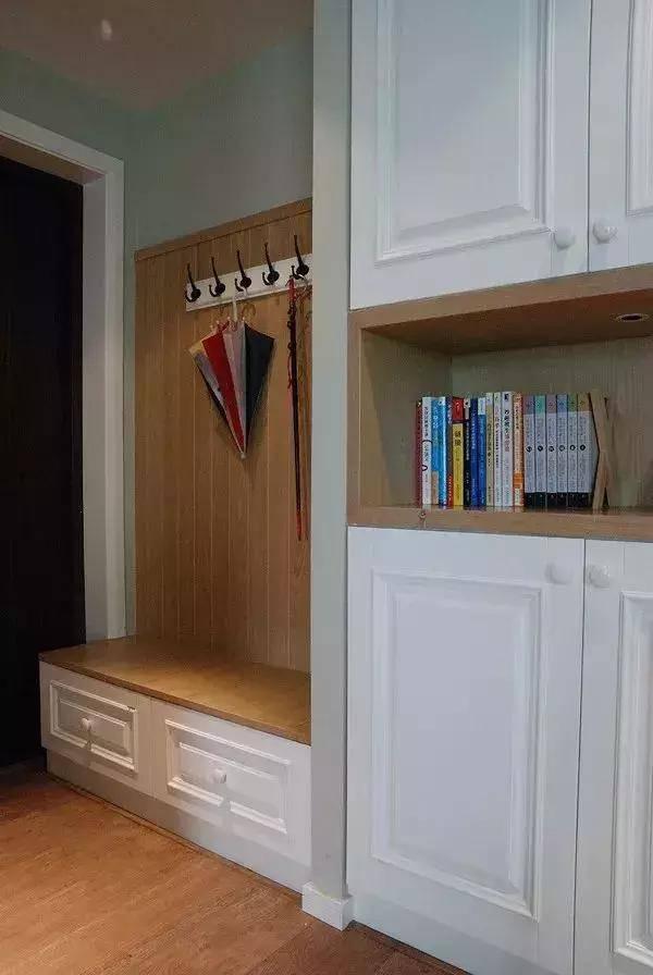 鞋柜 换鞋凳效果图,让你一进门就被吸引!
