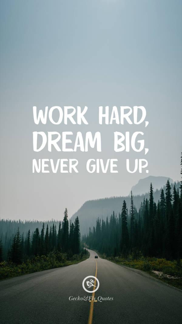努力工作,梦想远大,永不放弃.