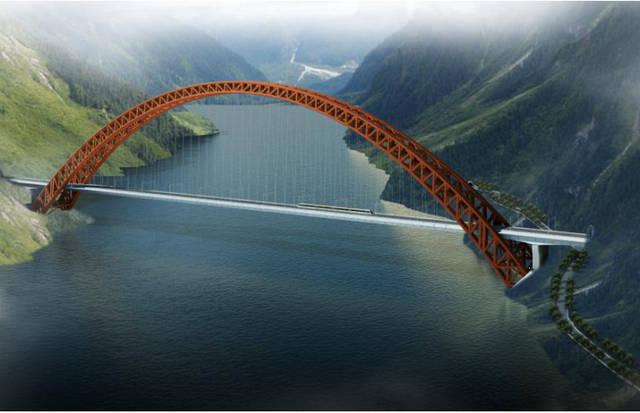 拉林铁路木特大桥的建设再次让员工走进格桑花盛开的美丽西.