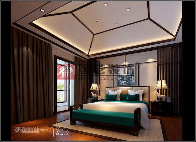 阁楼装修设计现代中式风格效果图!