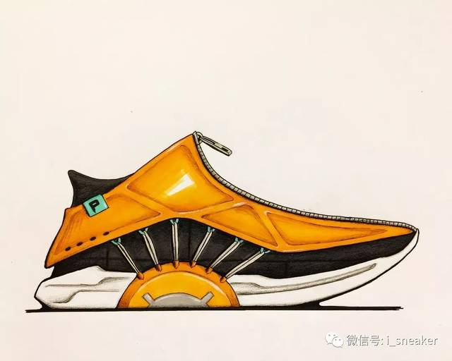 鞋设|球鞋马克笔手绘分享74例