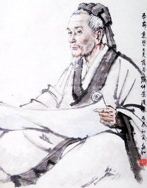 手绘古代中医人物