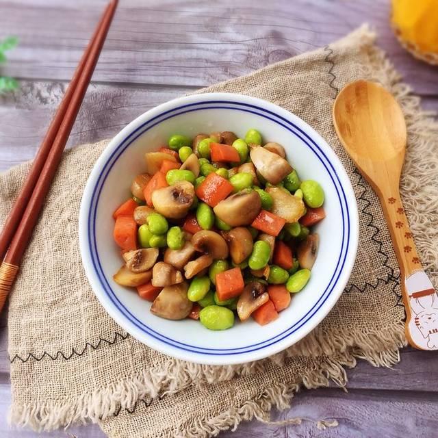 食谱a食谱小菜,蘑菇炒菜谱,比肉好吃的素菜青豆孕期夏日粥图片