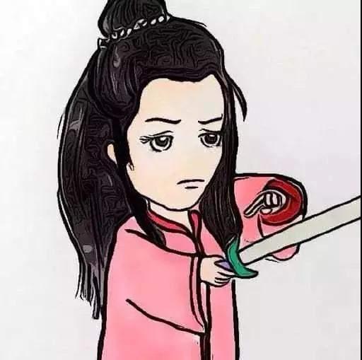 最近抖音上一组最火的紫霞仙子至尊宝情侣头像,大话西游情侣图卡通版图片