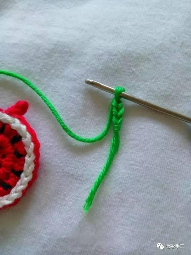 西瓜水果手表钩针编织教程,可做宝宝玩具,过家家首选