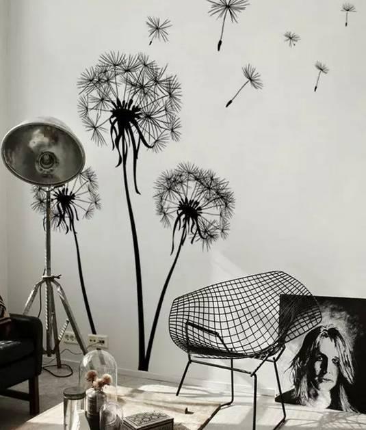 手绘背景墙 让家妙趣横生