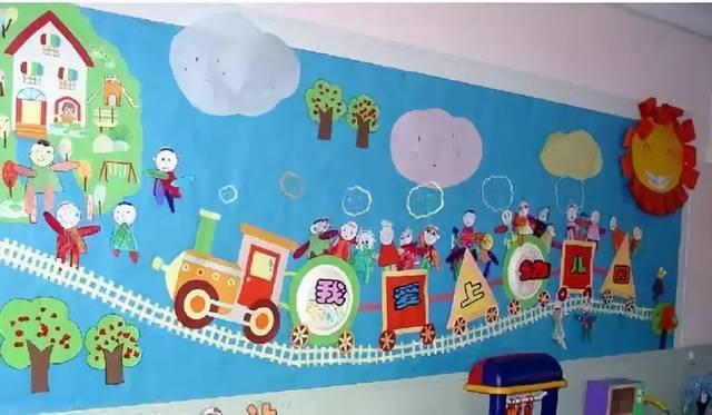 """新生入园时值夏末秋初,在教室里布置一面""""秋天""""主题的装饰也是应时图片"""