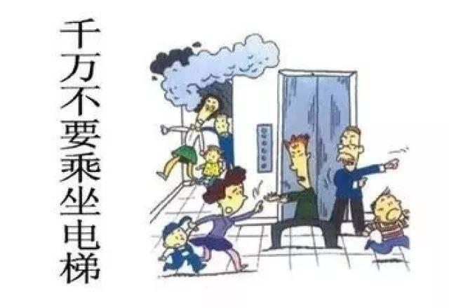 乘坐电梯小贴士_45. 遇到火灾不乘电梯