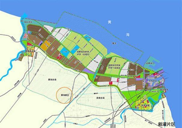 江苏滨海新区规划图