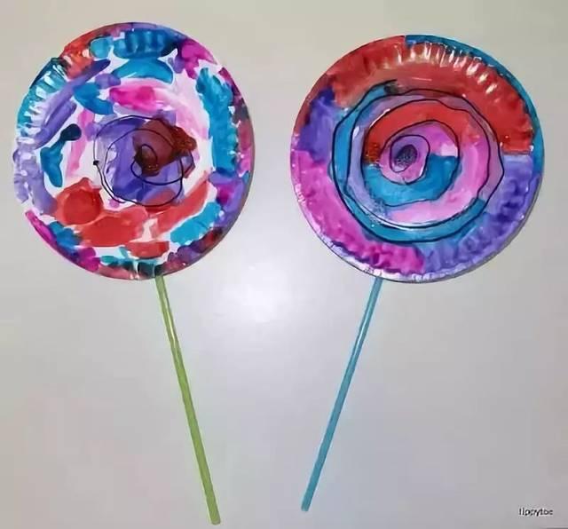 纸盘热气球 彩色的热气球带着孩子们的梦想在蓝天上飘呀飘……一起做