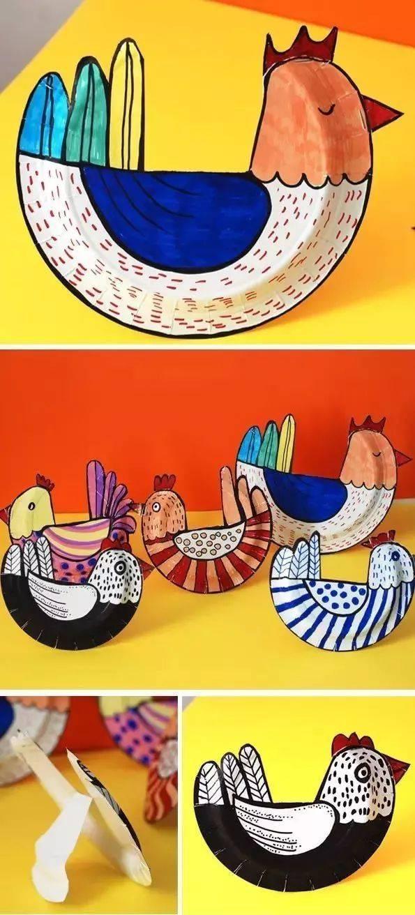 准备材料:纸盘,剪刀,订书机,彩笔 制作步骤图解: 文章来自幼儿园手工