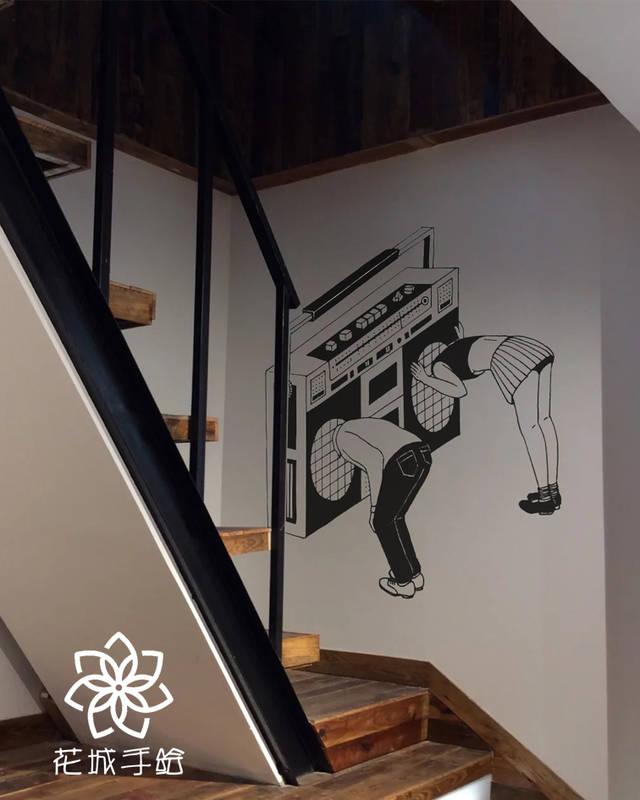 △民宿手绘壁画