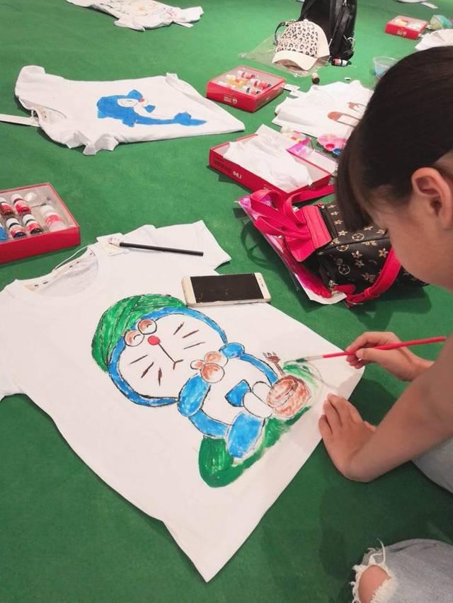 创意手绘t恤◆欢乐亲子涂鸦活动回顾