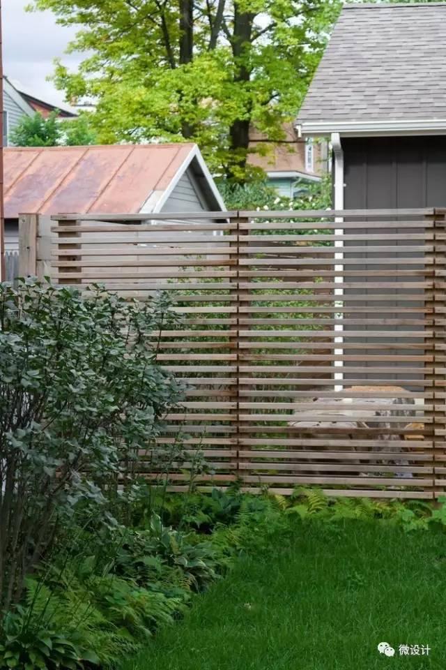 围墙建造的材料: 木材,石材,砖,混凝土,金属,玻璃等, 甚至还有绿植.图片