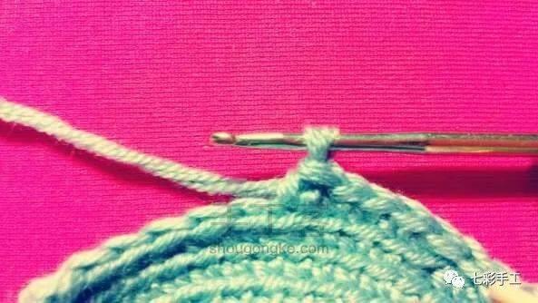 呆萌蘑菇收纳盒钩针编织教程,装饰与实用共存,缝合后可做挂件