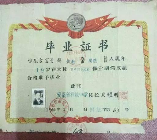我的桐中毕业证(1962年)